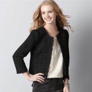 LOFT NWOT Wool & Lace Blazer Black